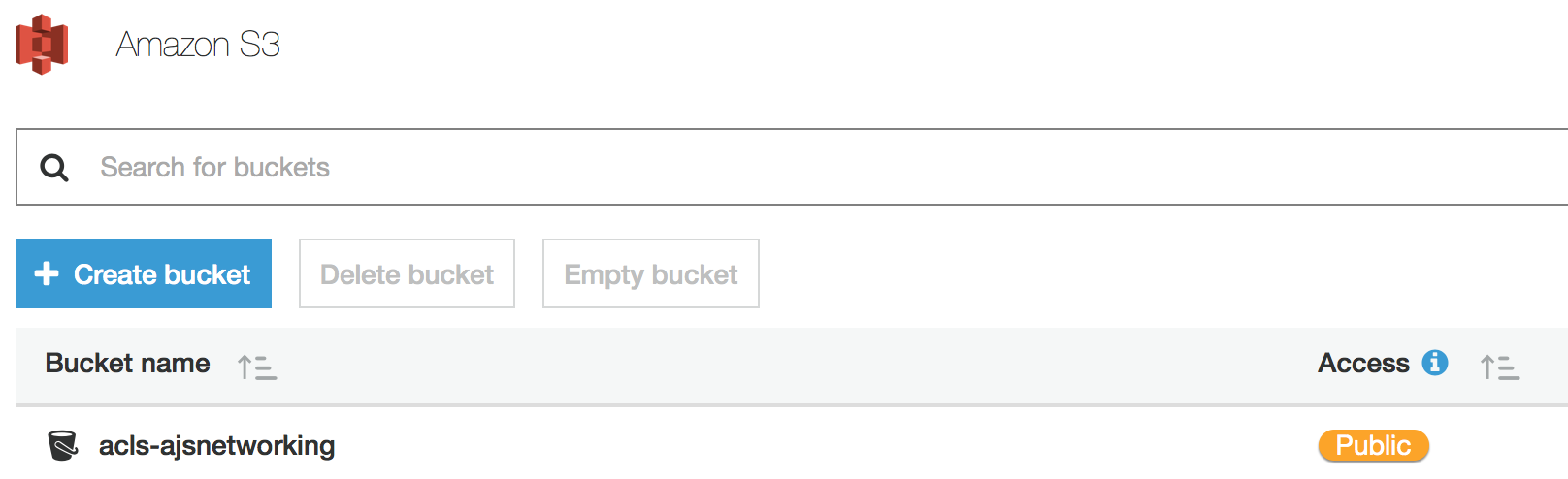 how to change bucket policy from public s3